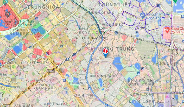 Bản đồ quy hoạch sử dụng đất quận Thanh Xuân, Hà Nội - Ảnh 2.