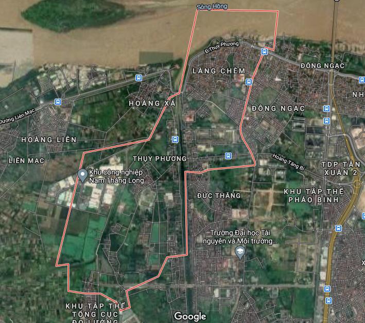 Bản đồ quy hoạch sử dụng đất phường Thuỵ Phương, Bắc Từ Liêm, Hà Nội - Ảnh 1.