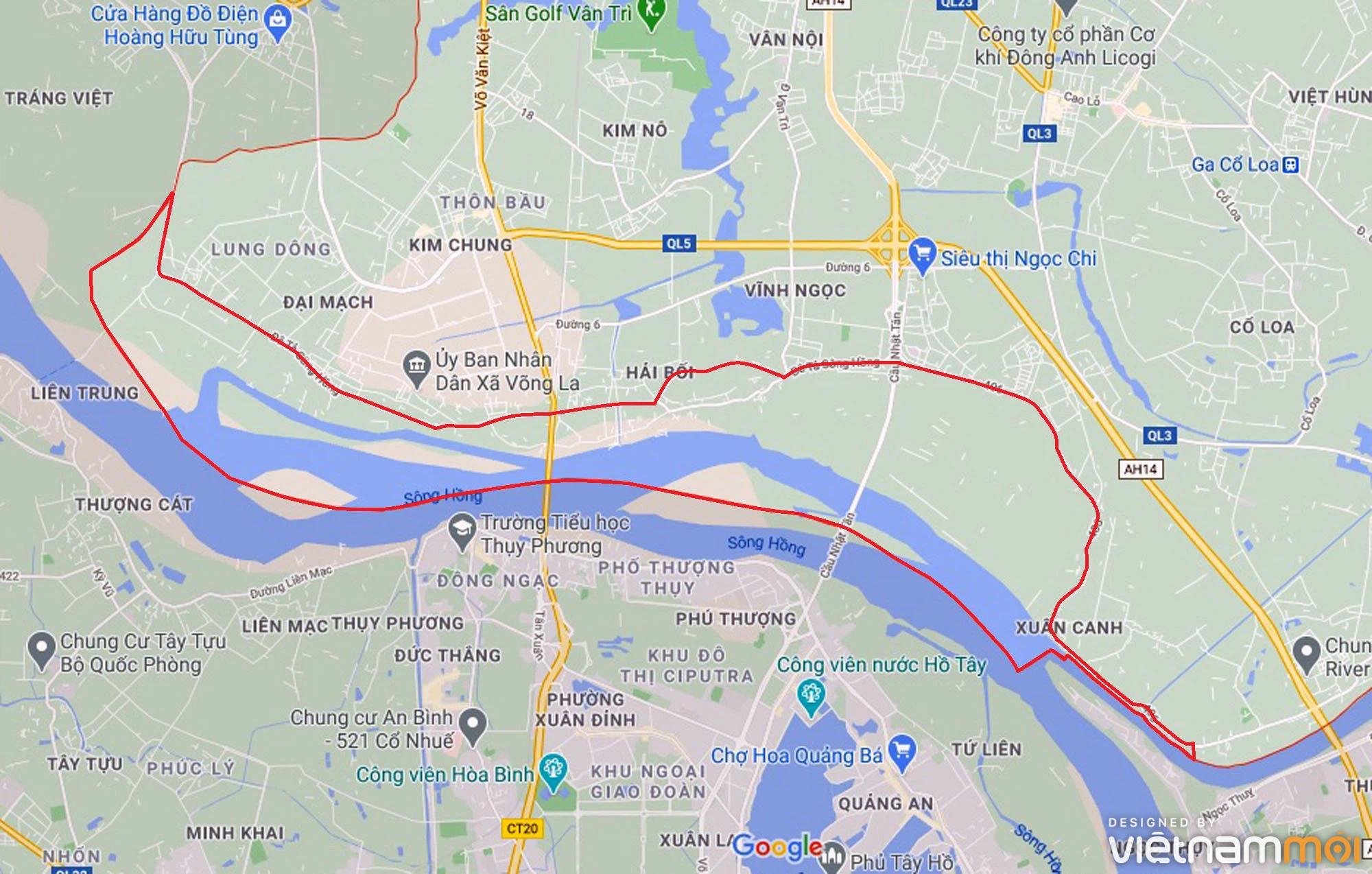 Toàn cảnh hiện trạng Phân khu đô thị sông Hồng trên địa bàn huyện Đông Anh - Ảnh 1.