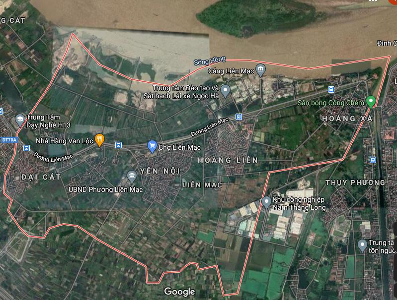 Bản đồ quy hoạch giao thông phường Liên Mạc, Bắc Từ Liêm, Hà Nội - Ảnh 1.