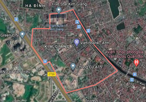 Bản đồ quy hoạch giao thông phường Kim Giang, Thanh Xuân, Hà Nội - Ảnh 1.