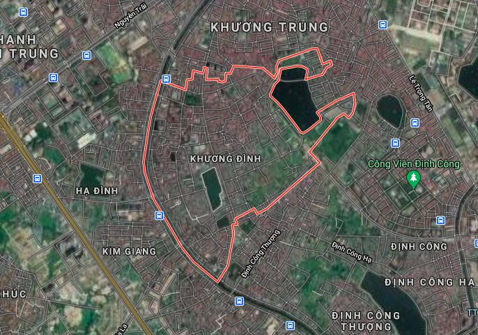 Bản đồ quy hoạch sử dụng đất phường Khương Đình, Thanh Xuân, Hà Nội - Ảnh 1.