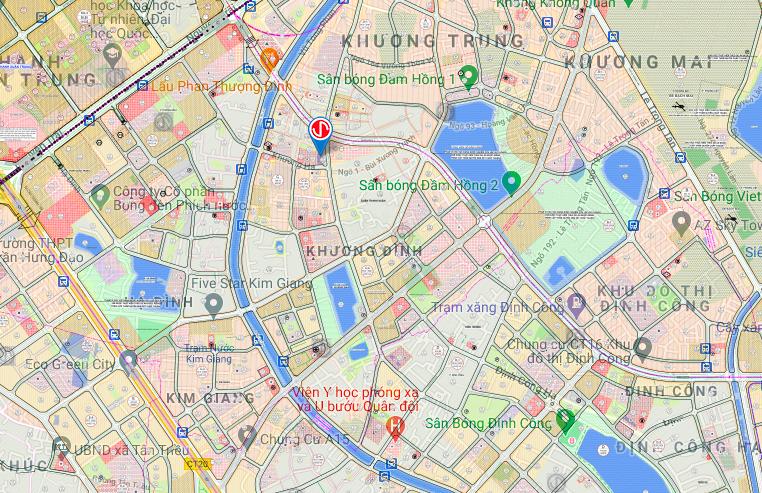 Bản đồ quy hoạch sử dụng đất phường Khương Đình, Thanh Xuân, Hà Nội - Ảnh 2.