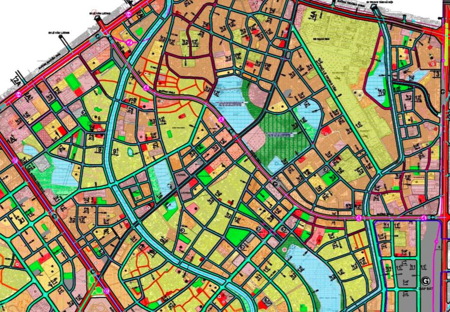Bản đồ quy hoạch giao thông phường Khương Đình, Thanh Xuân, Hà Nội - Ảnh 2.