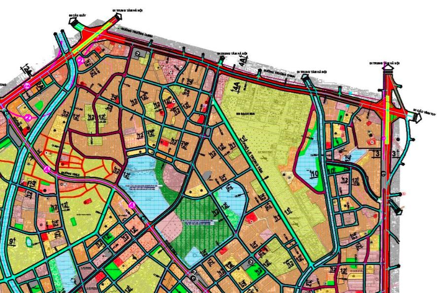 Bản đồ quy hoạch giao thông phường Khương Mai, Thanh Xuân, Hà Nội - Ảnh 2.