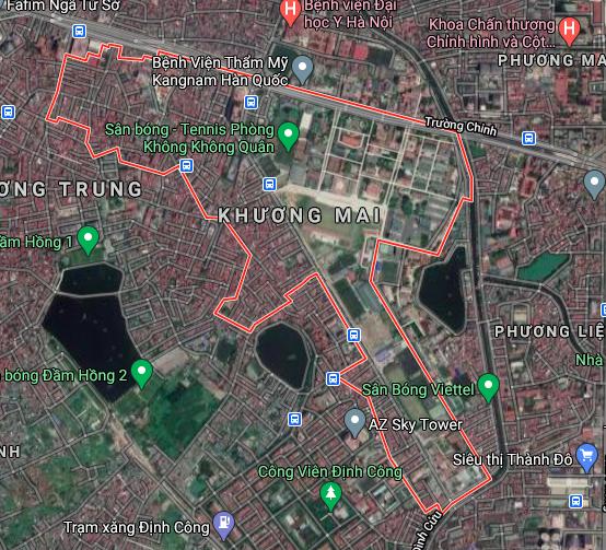 Bản đồ quy hoạch giao thông phường Khương Mai, Thanh Xuân, Hà Nội - Ảnh 1.