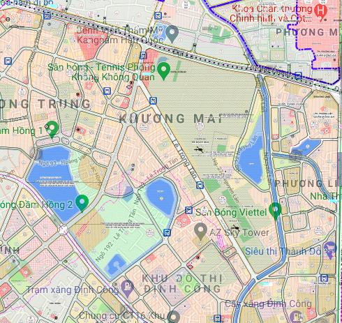 Bản đồ quy hoạch sử dụng đất phường Khương Mai, Thanh Xuân, Hà Nội - Ảnh 2.