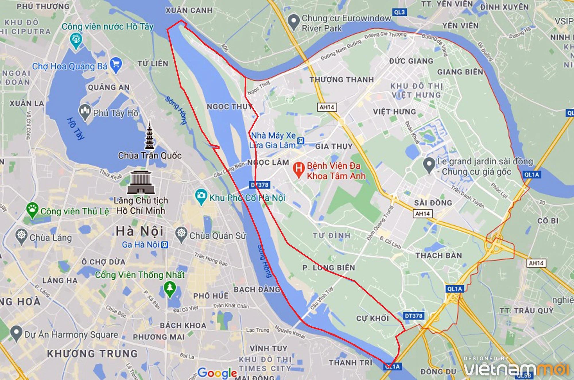 Toàn cảnh hiện trạng Phân khu đô thị sông Hồng trên địa bàn quận Long Biên - Ảnh 1.