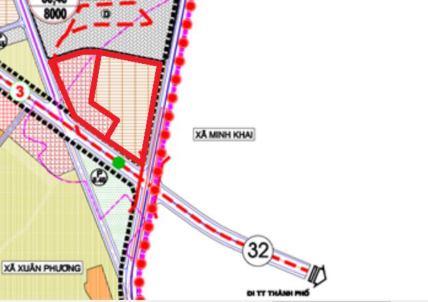 Đất dính quy hoạch ở phường Minh Khai, Bắc Từ Liêm, Hà Nội - Ảnh 1.