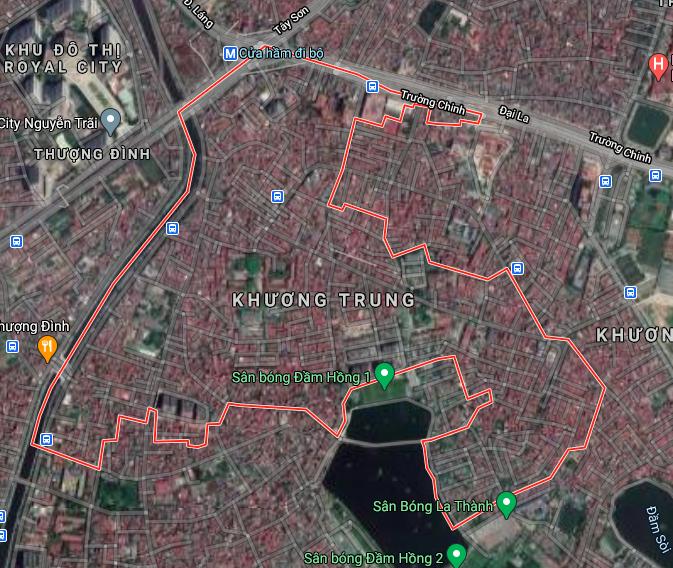 Bản đồ quy hoạch giao thông phường Khương Trung, Thanh Xuân, Hà Nội - Ảnh 1.