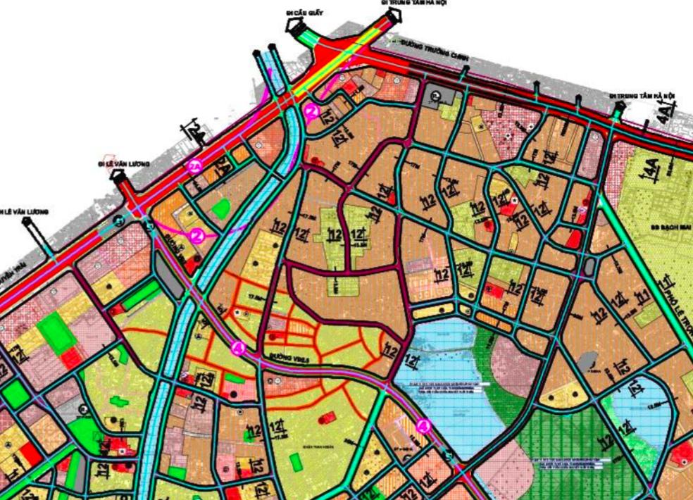 Bản đồ quy hoạch giao thông phường Khương Trung, Thanh Xuân, Hà Nội - Ảnh 2.