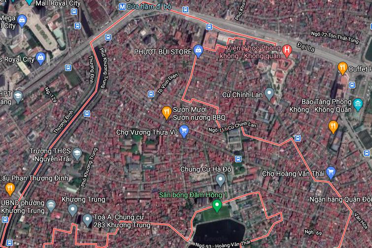 Đất dính quy hoạch ở phường Khương Trung, Thanh Xuân, Hà Nội - Ảnh 2.