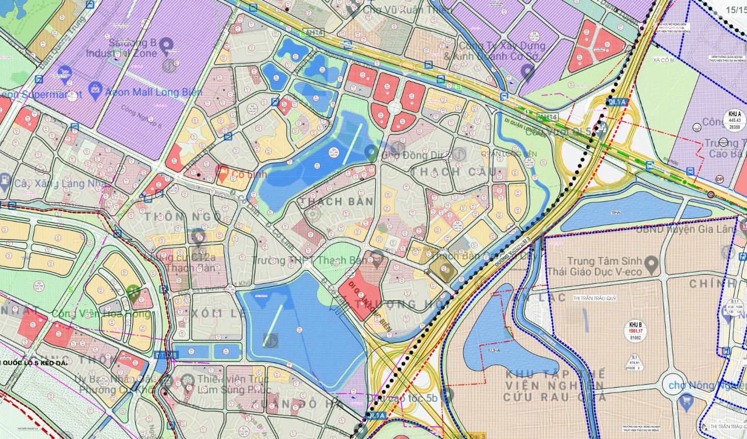 Bản đồ quy hoạch sử dụng đất phường Thạch Bàn, Long Biên, Hà Nội - Ảnh 2.