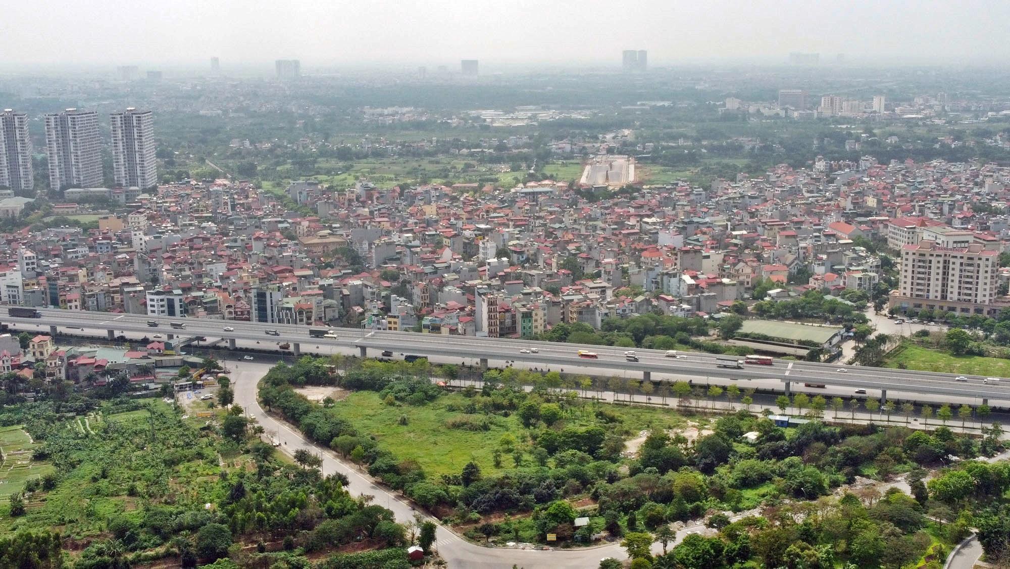 Toàn cảnh đường Tây Thăng Long đang mở theo quy hoạch ở Hà Nội - Ảnh 17.