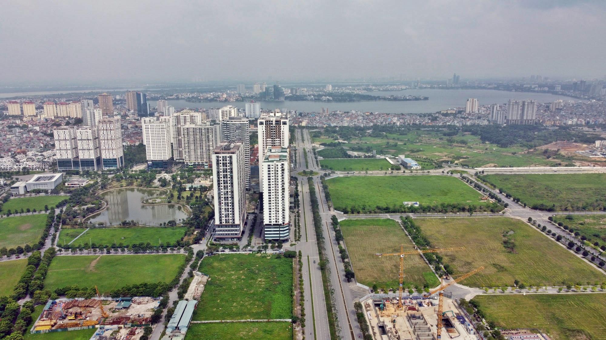 Toàn cảnh đường Tây Thăng Long đang mở theo quy hoạch ở Hà Nội - Ảnh 18.