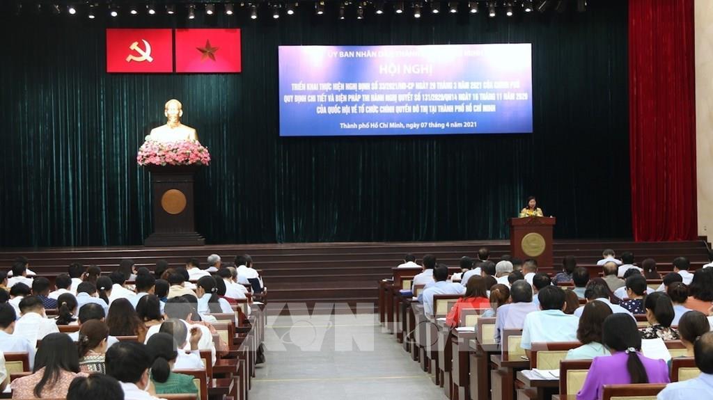 Triển khai Nghị định Chính phủ về tổ chức bộ máy chính quyền đô thị tại TP Hồ Chí Minh - Ảnh 1.