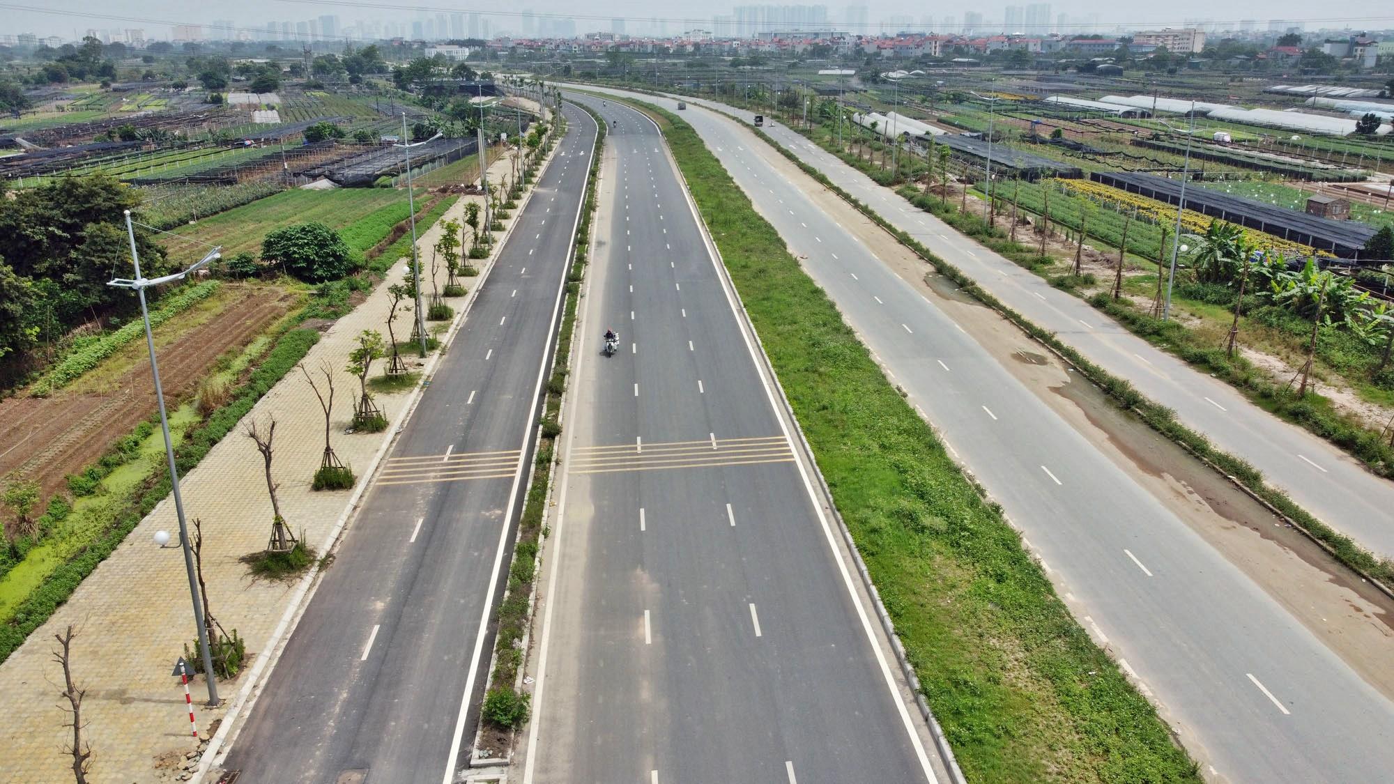 Toàn cảnh đường Tây Thăng Long đang mở theo quy hoạch ở Hà Nội - Ảnh 5.