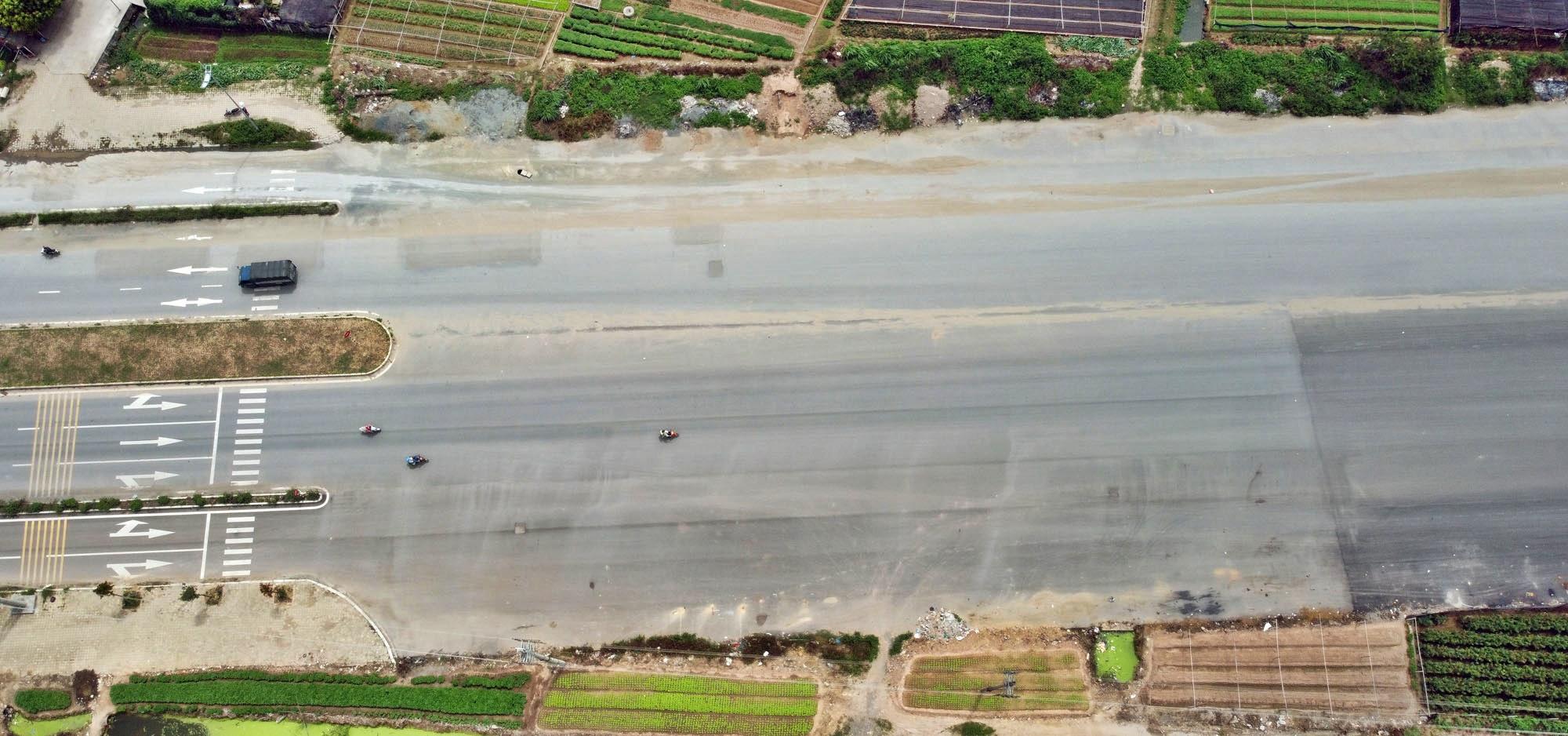 Toàn cảnh đường Tây Thăng Long đang mở theo quy hoạch ở Hà Nội - Ảnh 7.