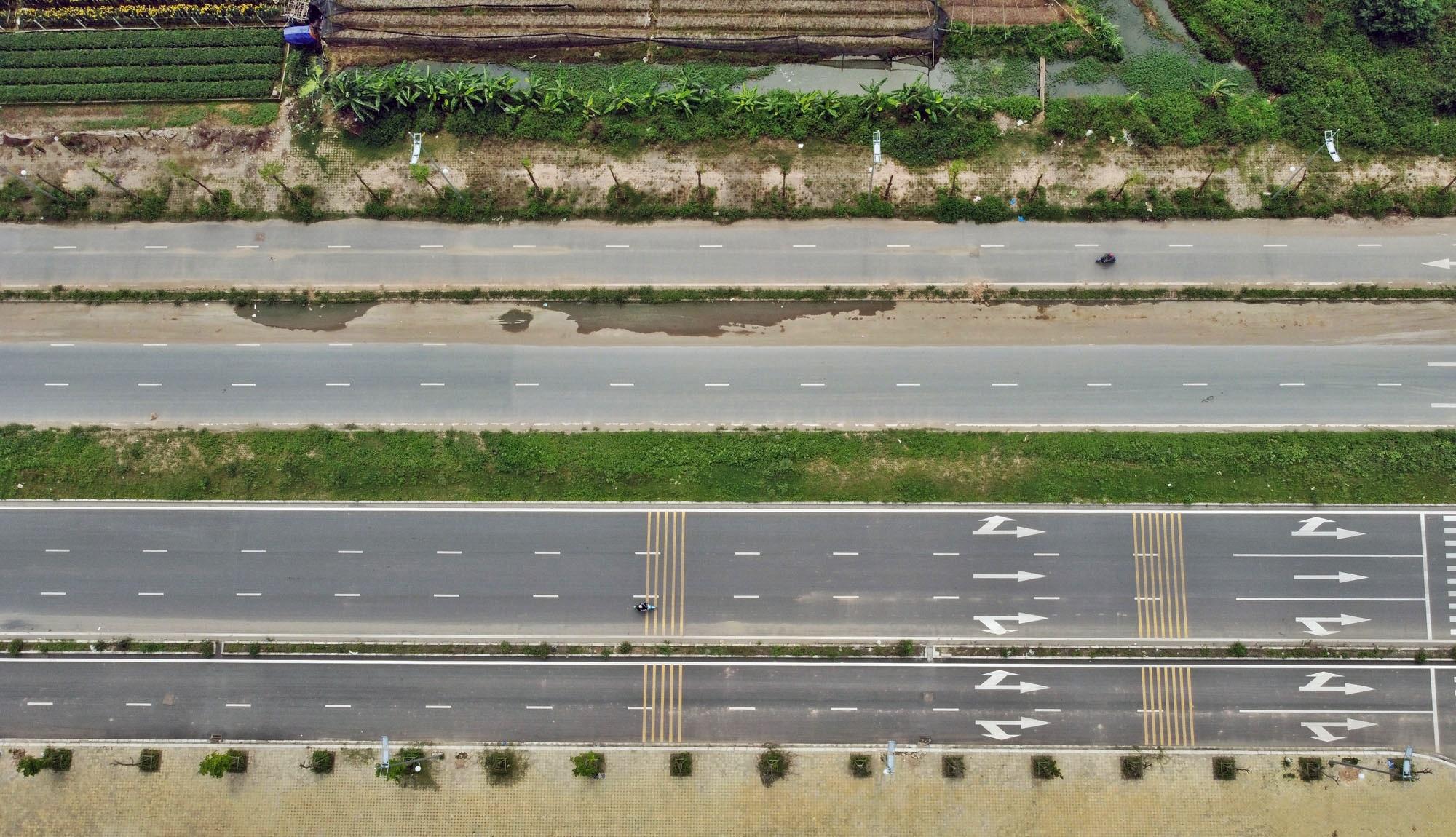 Toàn cảnh đường Tây Thăng Long đang mở theo quy hoạch ở Hà Nội - Ảnh 9.