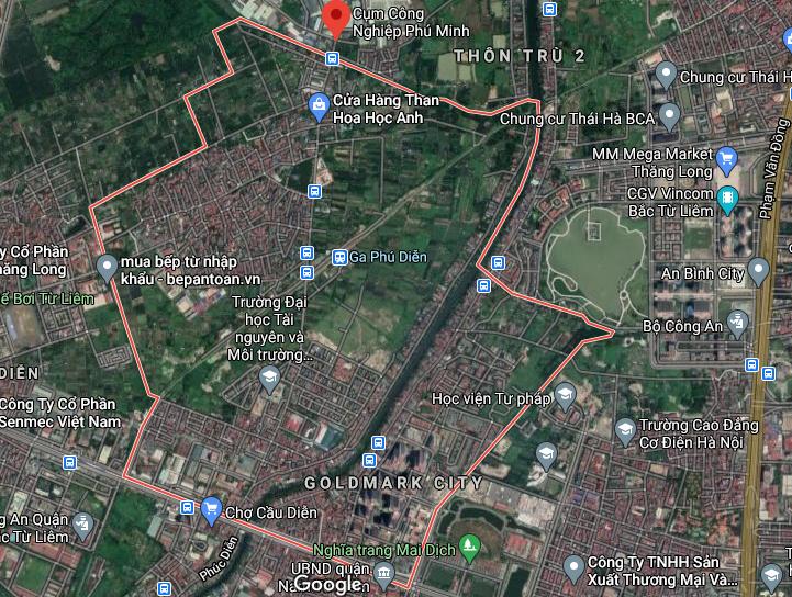 Bản đồ quy hoạch sử dụng đất phường Phú Diễn, Bắc Từ Liêm, Hà Nội - Ảnh 1.