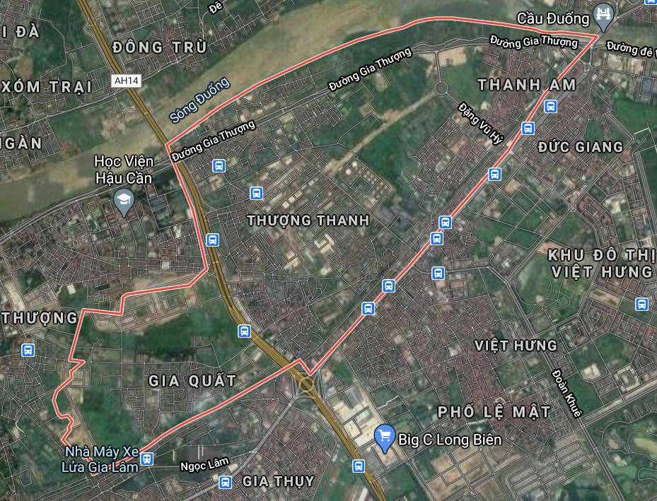 Bản đồ quy hoạch sử dụng đất phường Thượng Thanh, Long Biên, Hà Nội - Ảnh 1.
