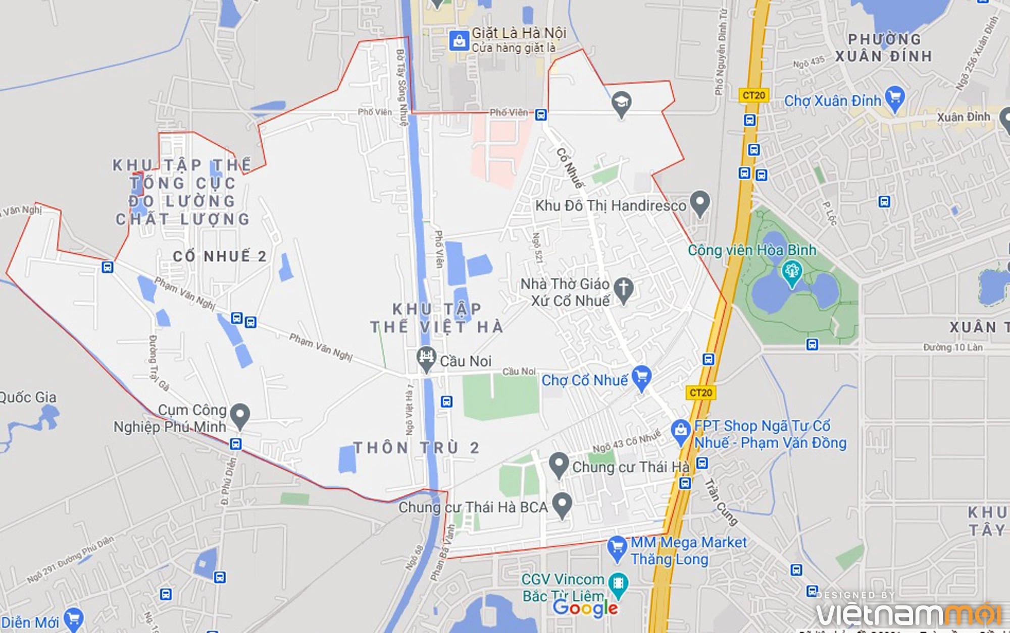Ba đường sẽ mở theo qui hoạch ở phường Cổ Nhuế 2, Bắc Từ Liêm, Hà Nội (phần 2) - Ảnh 1.