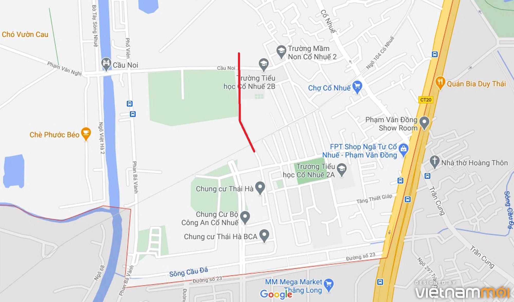 Ba đường sẽ mở theo qui hoạch ở phường Cổ Nhuế 2, Bắc Từ Liêm, Hà Nội (phần 2) - Ảnh 2.