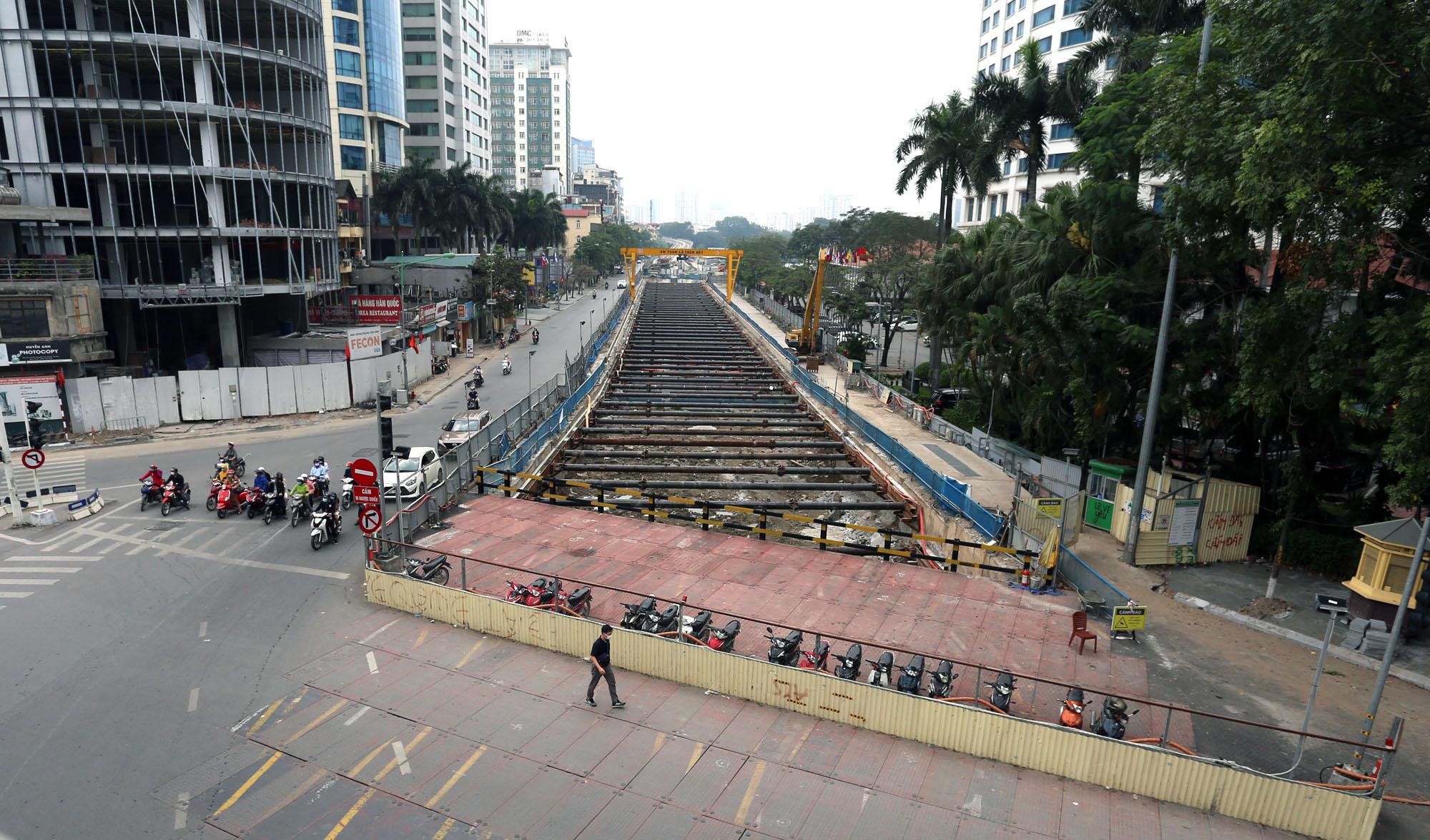 Tiến độ tổng thể dự án đường sắt Nhổn - ga Hà Nội đoạn trên cao đạt hơn 86% - Ảnh 2.