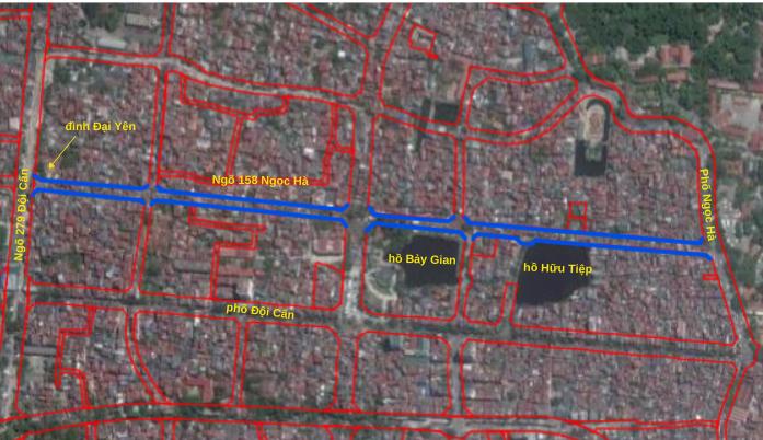 Đường sắp mở theo quy hoạch ở phường Ngọc Hà, Ba Đình, Hà Nội (phần 2): Đường nối ngõ 279 Đội Cấn - phố Ngọc Hà  - Ảnh 2.