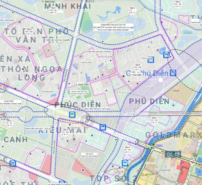 Bản đồ quy hoạch sử dụng đất phường Phúc Diễn, Bắc Từ Liêm, Hà Nội - Ảnh 2.