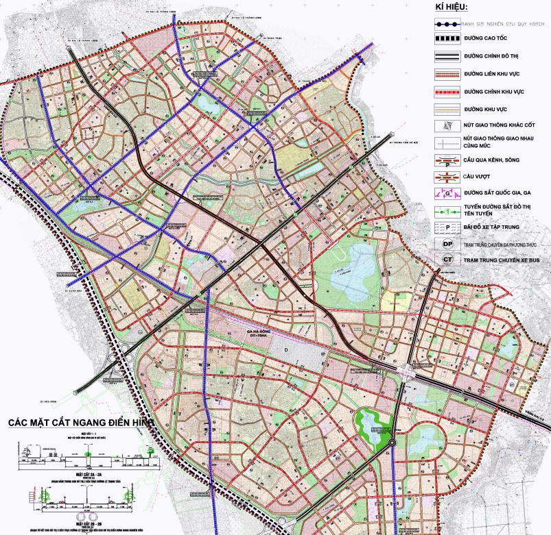 Bản đồ quy hoạch giao thông quận Hà Đông, Hà Nội - Ảnh 2.