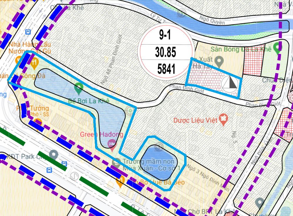 Đất dính quy hoạch ở phường La Khê, Hà Đông, Hà Nội - Ảnh 1.