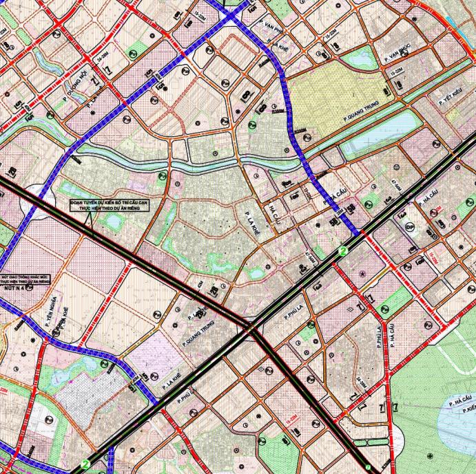 Bản đồ quy hoạch giao thông phường Quang Trung, Hà Đông, Hà Nội - Ảnh 2.