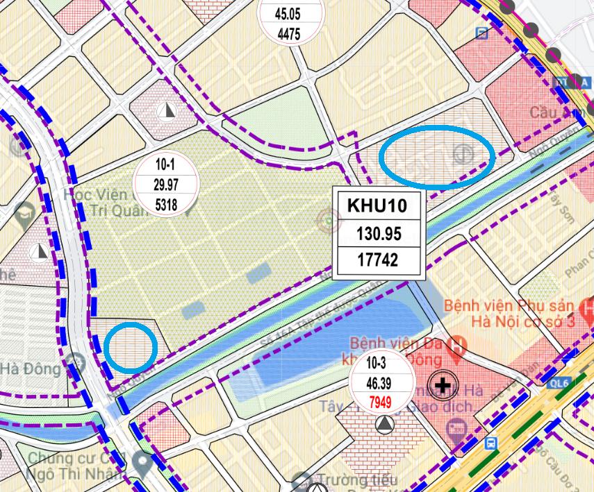 Đất dính quy hoạch ở phường Quang Trung, Hà Đông, Hà Nội - Ảnh 1.