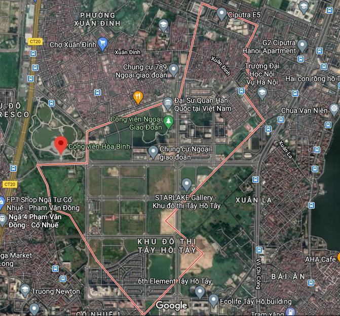 Bản đồ quy hoạch sử dụng đất phường Xuân Tảo, Bắc Từ Liêm, Hà Nội - Ảnh 1.