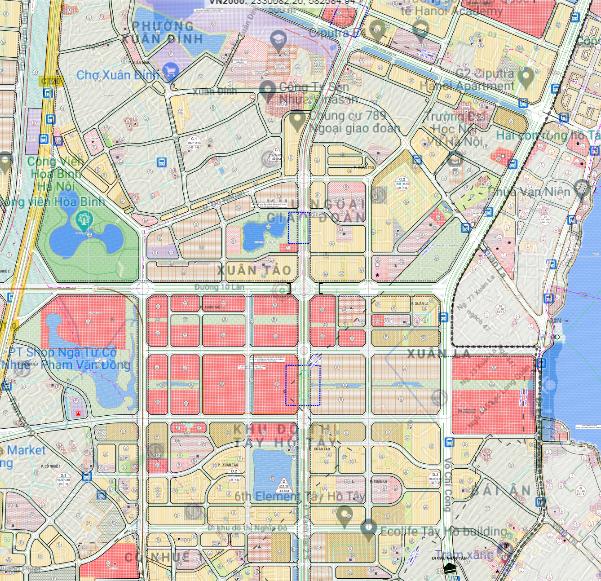 Bản đồ quy hoạch sử dụng đất phường Xuân Tảo, Bắc Từ Liêm, Hà Nội - Ảnh 2.