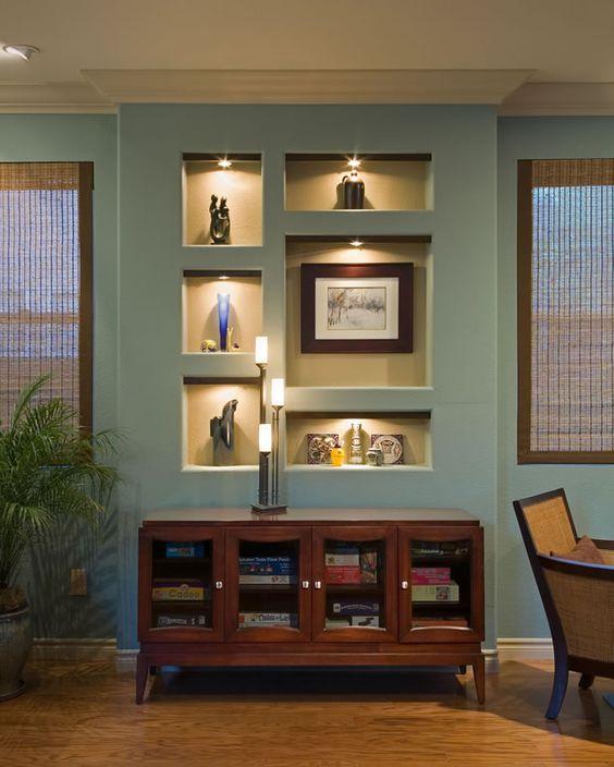 5 ý tưởng trang trí hốc âm tường phòng khách ấn tượng, đầy sáng tạo - Ảnh 3.