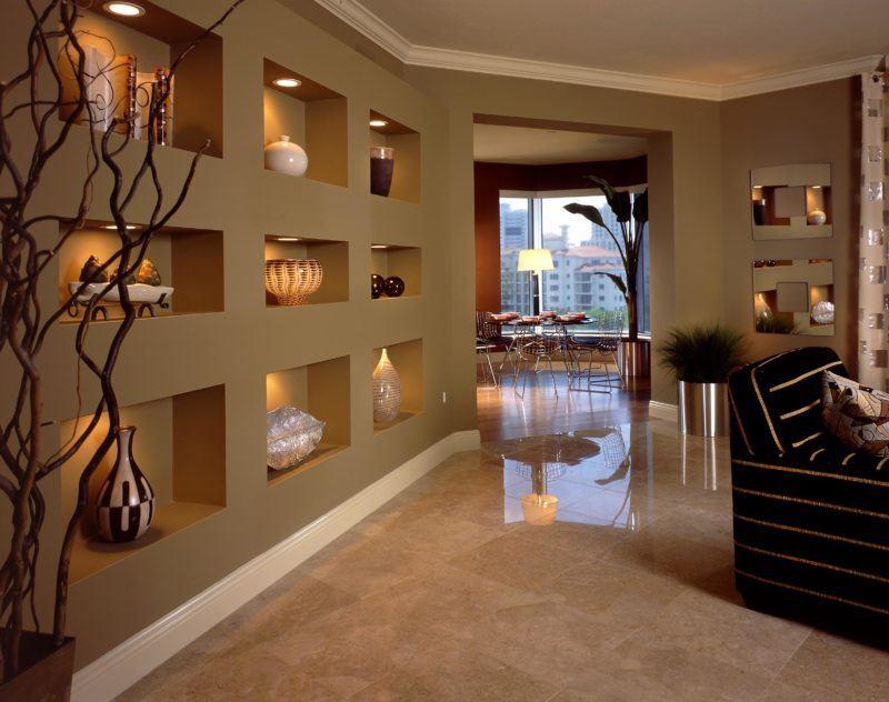 5 ý tưởng trang trí hốc âm tường phòng khách ấn tượng, đầy sáng tạo - Ảnh 7.