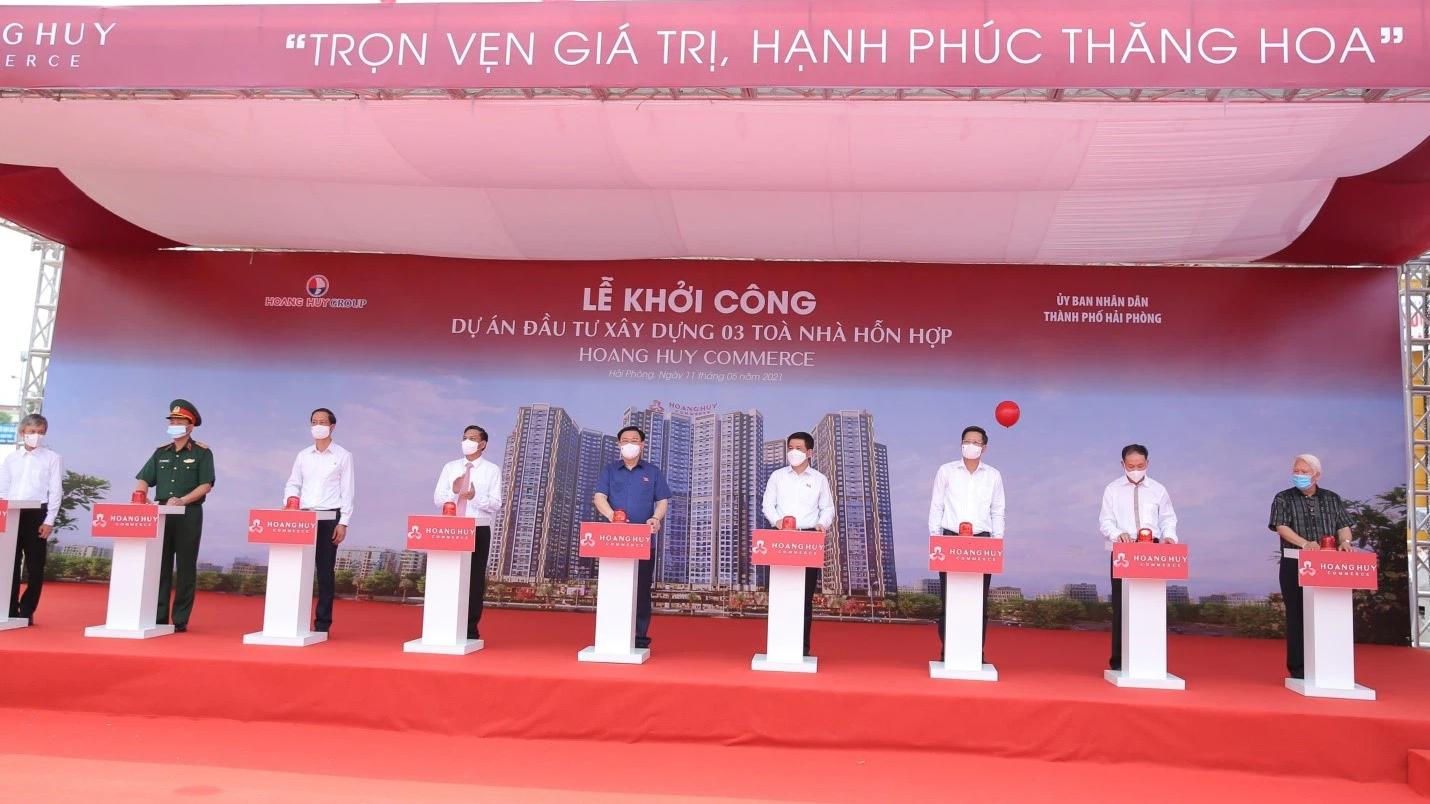 Tài chính Hoàng Huy khởi công dự án 5.000 tỷ tại Hải Phòng - Ảnh 1.