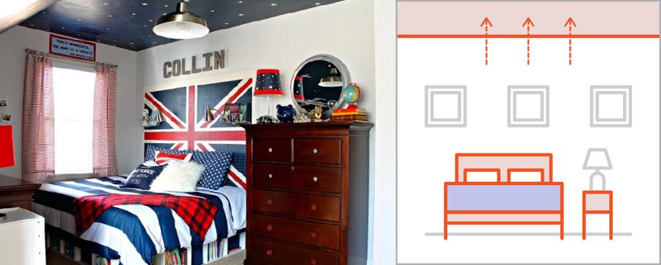 Bật mí những cách đơn giản để làm cho phòng ngủ rộng rãi hơn - Ảnh 3.