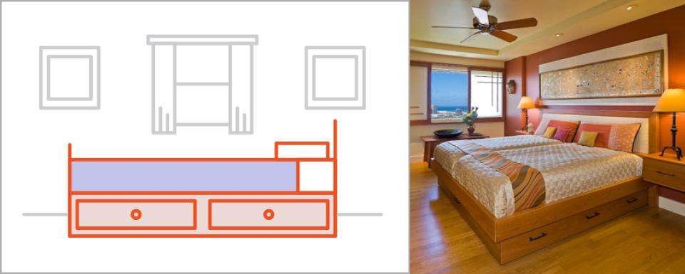 Bật mí những cách đơn giản để làm cho phòng ngủ rộng rãi hơn - Ảnh 5.