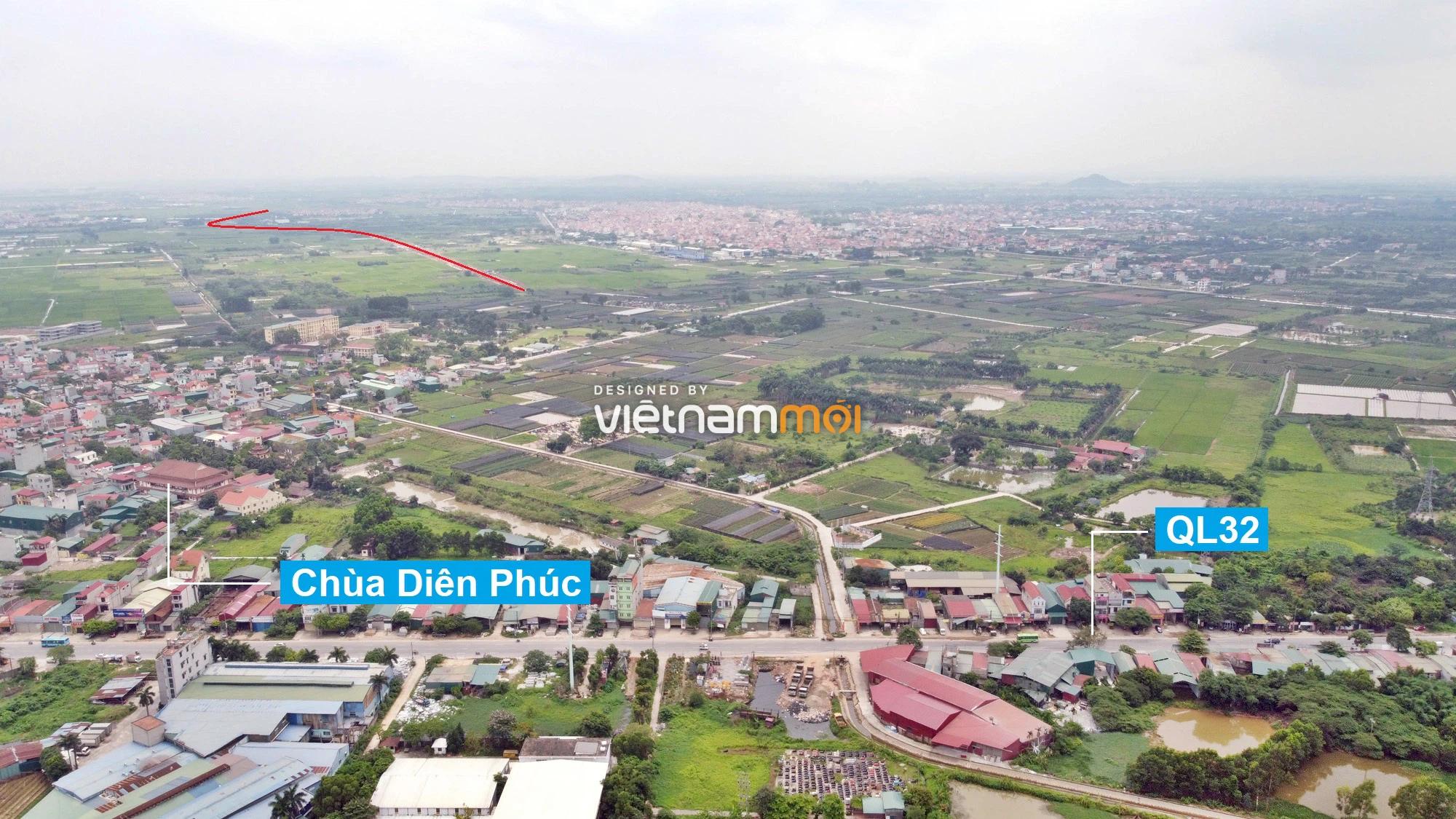 Toàn cảnh đường Liên khu vực 1 từ Đức Thượng đến Song Phương đang mở theo quy hoạch ở Hà Nội - Ảnh 1.