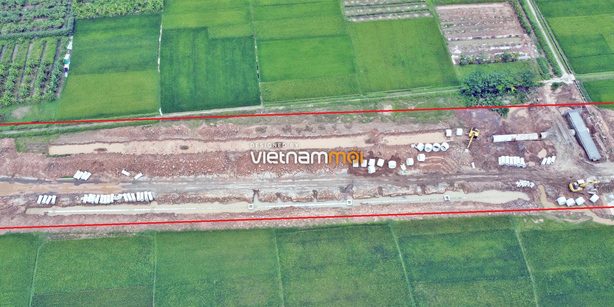 Toàn cảnh đường Liên khu vực 1 từ Đức Thượng đến Song Phương đang mở theo quy hoạch ở Hà Nội - Ảnh 3.