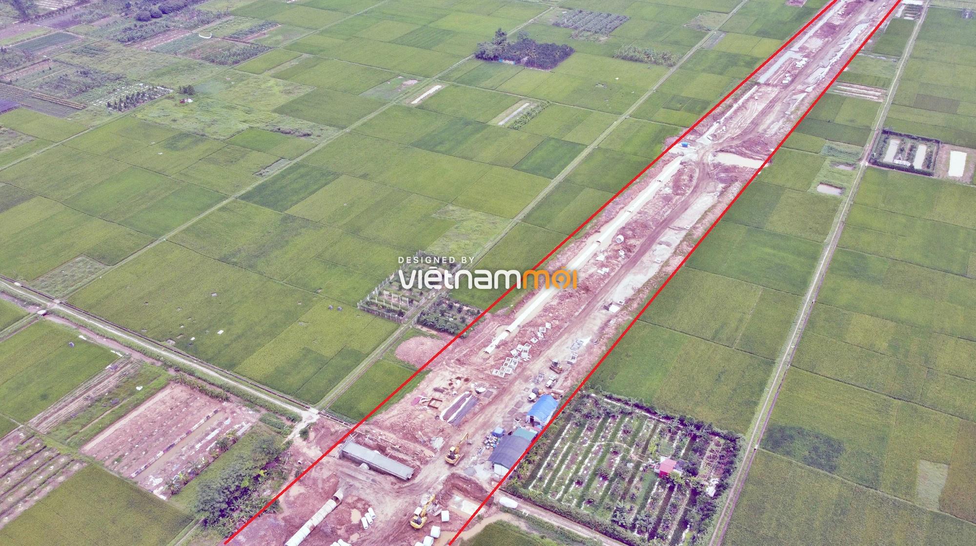 Toàn cảnh đường Liên khu vực 1 từ Đức Thượng đến Song Phương đang mở theo quy hoạch ở Hà Nội - Ảnh 4.