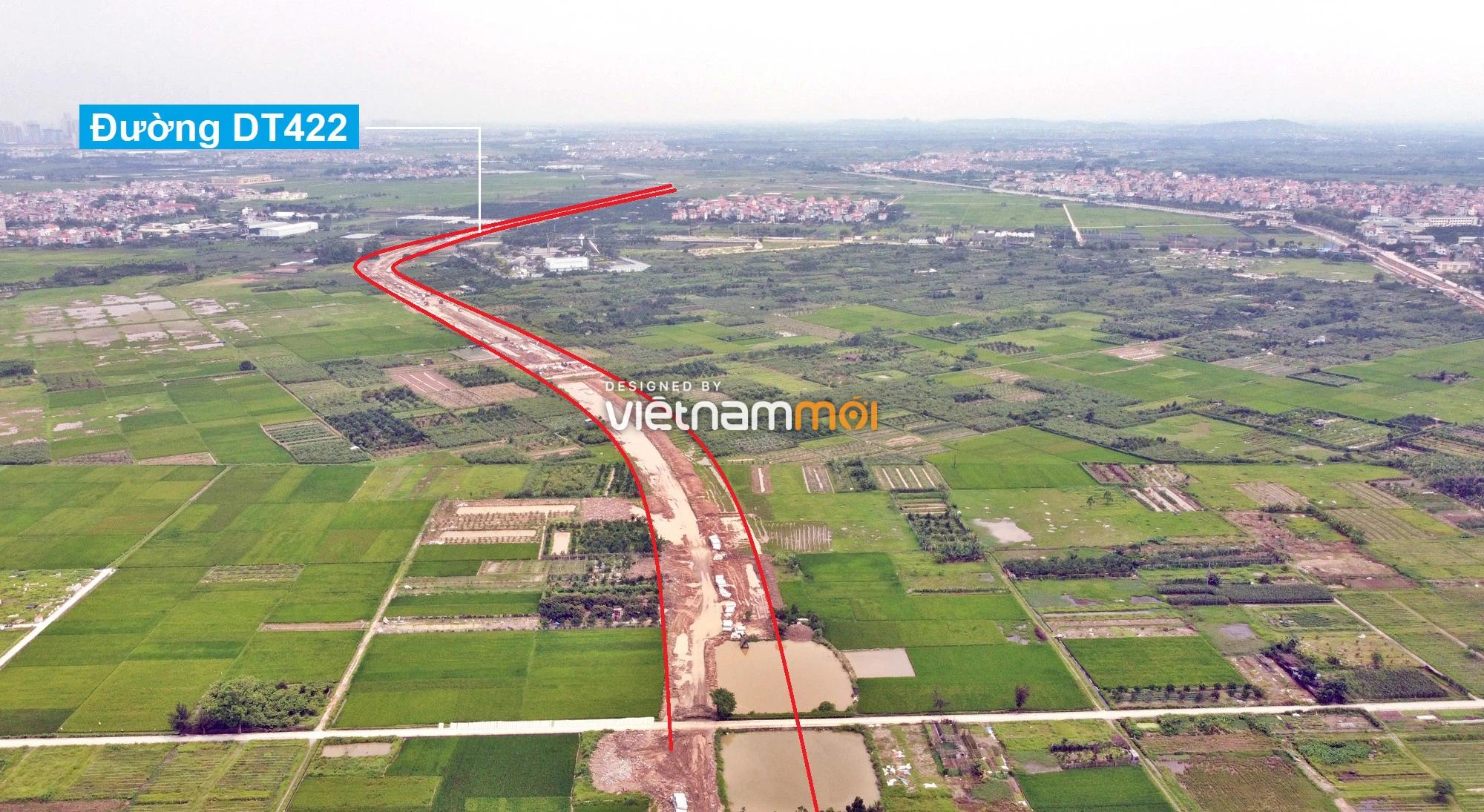 Toàn cảnh đường Liên khu vực 1 từ Đức Thượng đến Song Phương đang mở theo quy hoạch ở Hà Nội - Ảnh 7.