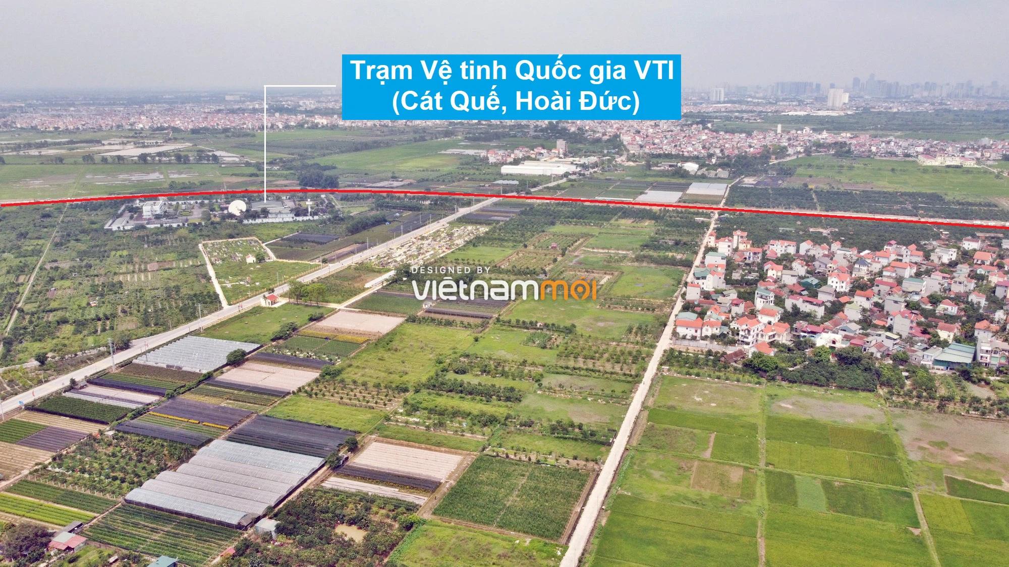 Toàn cảnh đường Liên khu vực 1 từ Đức Thượng đến Song Phương đang mở theo quy hoạch ở Hà Nội - Ảnh 10.
