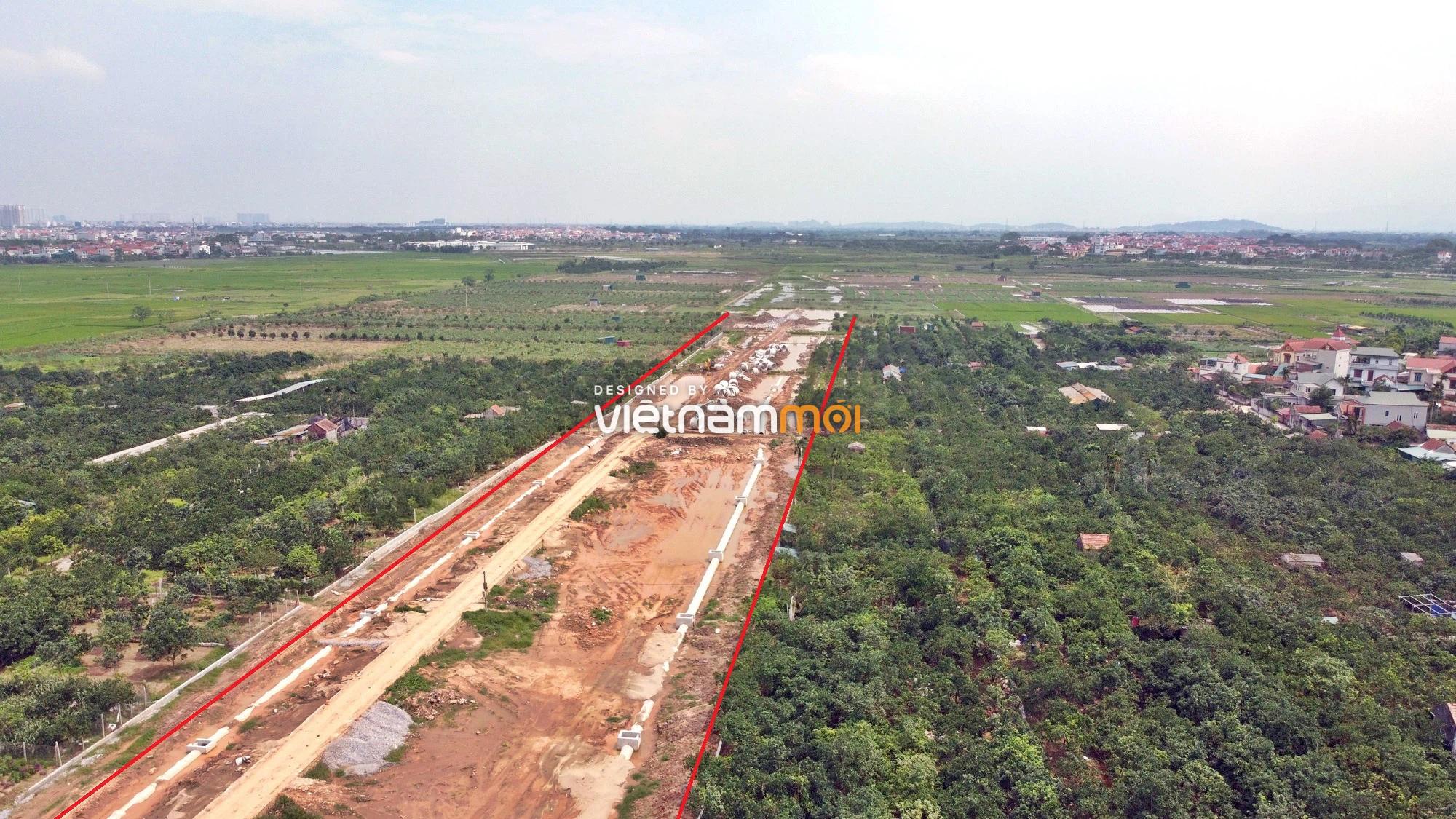Toàn cảnh đường Liên khu vực 1 từ Đức Thượng đến Song Phương đang mở theo quy hoạch ở Hà Nội - Ảnh 12.