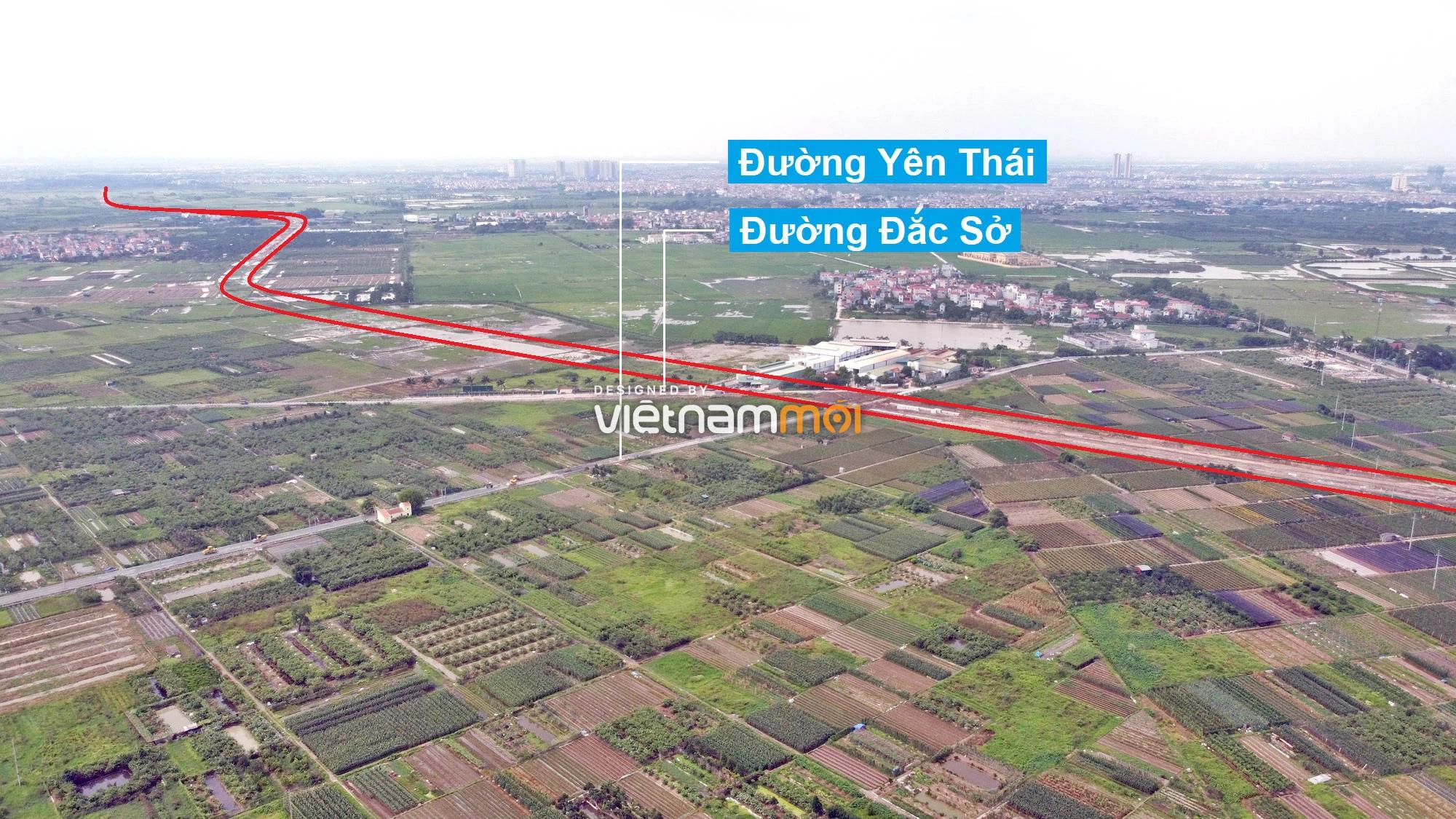 Toàn cảnh đường Liên khu vực 1 từ Đức Thượng đến Song Phương đang mở theo quy hoạch ở Hà Nội - Ảnh 13.