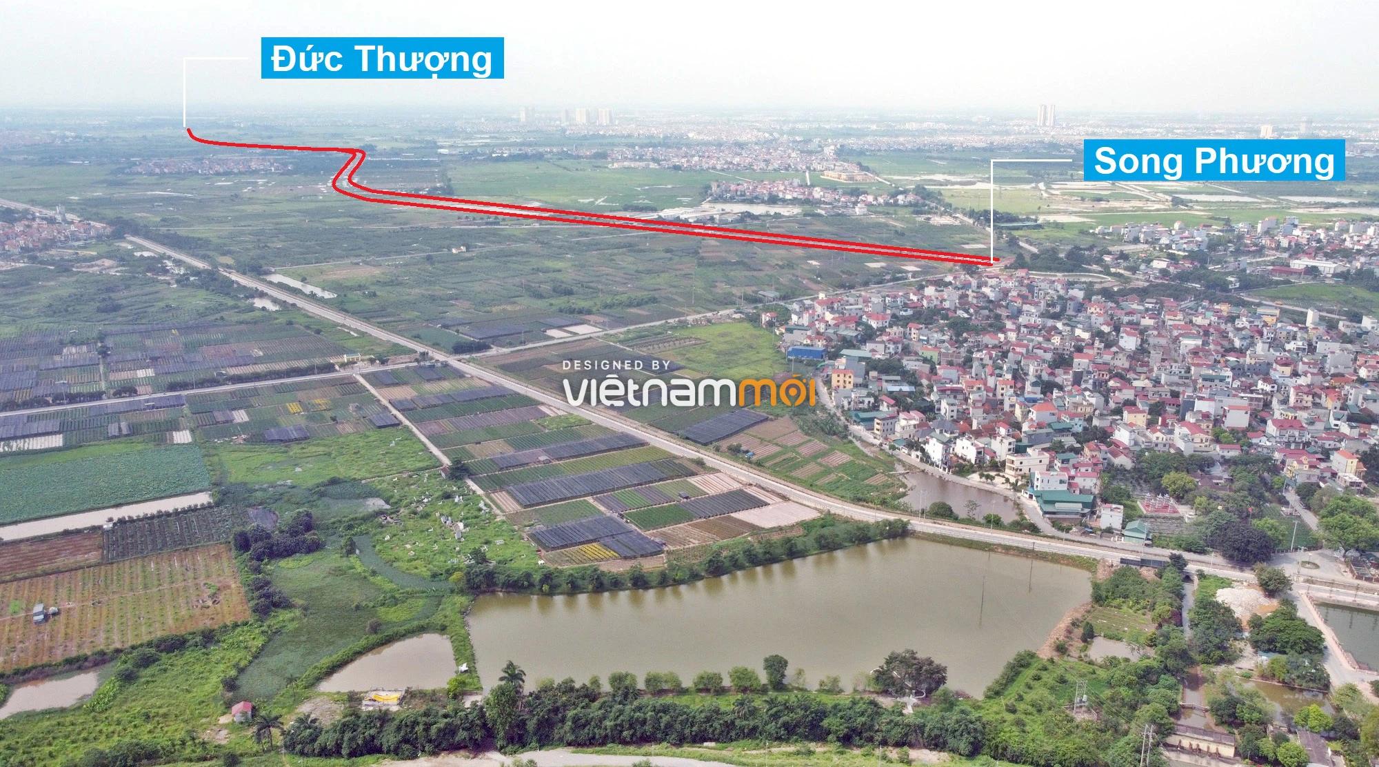 Toàn cảnh đường Liên khu vực 1 từ Đức Thượng đến Song Phương đang mở theo quy hoạch ở Hà Nội - Ảnh 16.