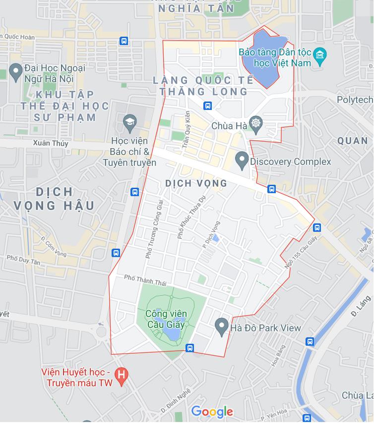 Những khu đất dính quy hoạch ở phường Dịch Vọng, Cầu Giấy, Hà Nội - Ảnh 1.